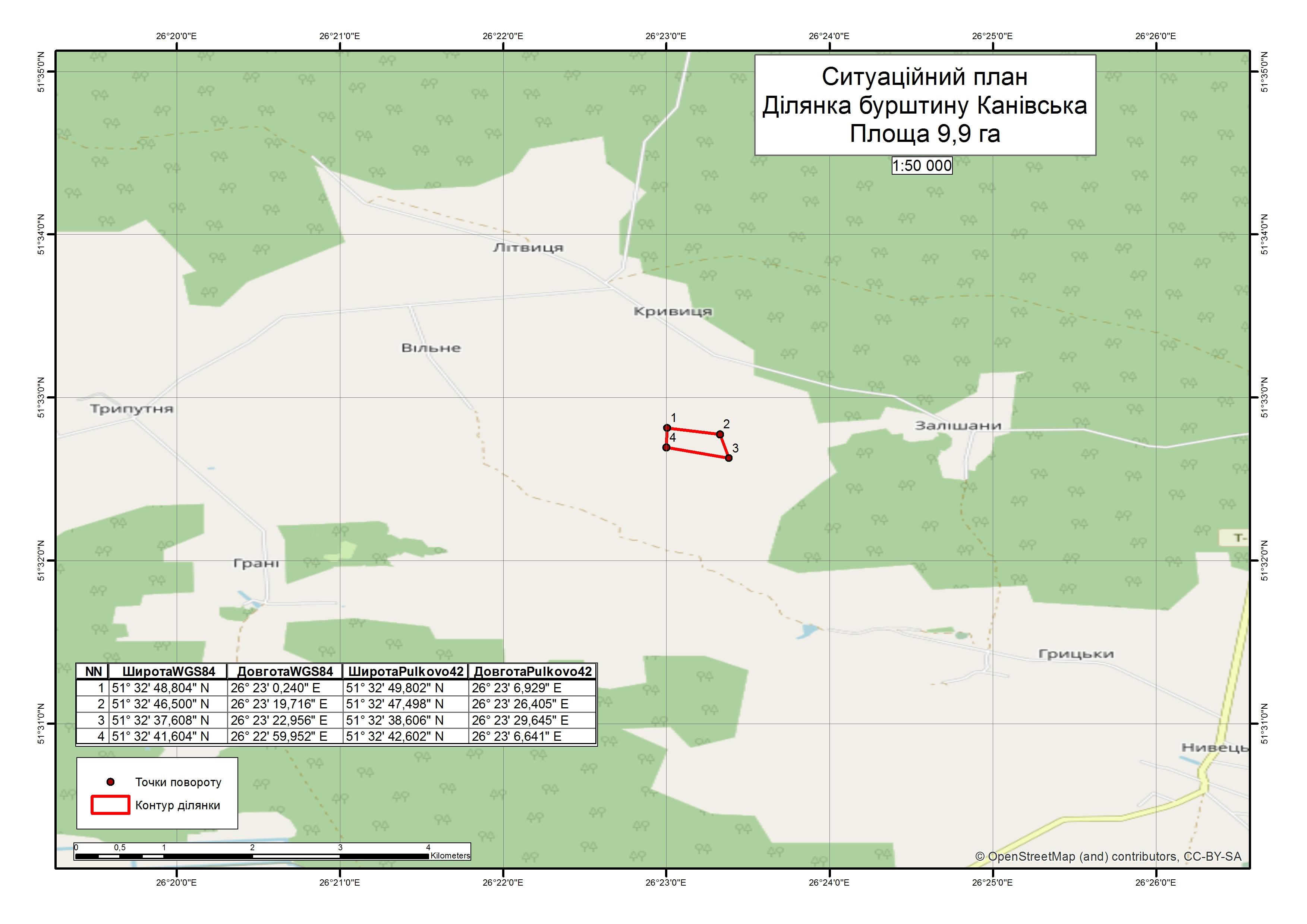 Спеціальний дозвіл на користування надрами – Ділянка Канівська. Вартість геологічної інформації – 97 931,74 грн (з ПДВ). Вартість пакету аукціонної документації – 5 250,96 грн (з ПДВ).