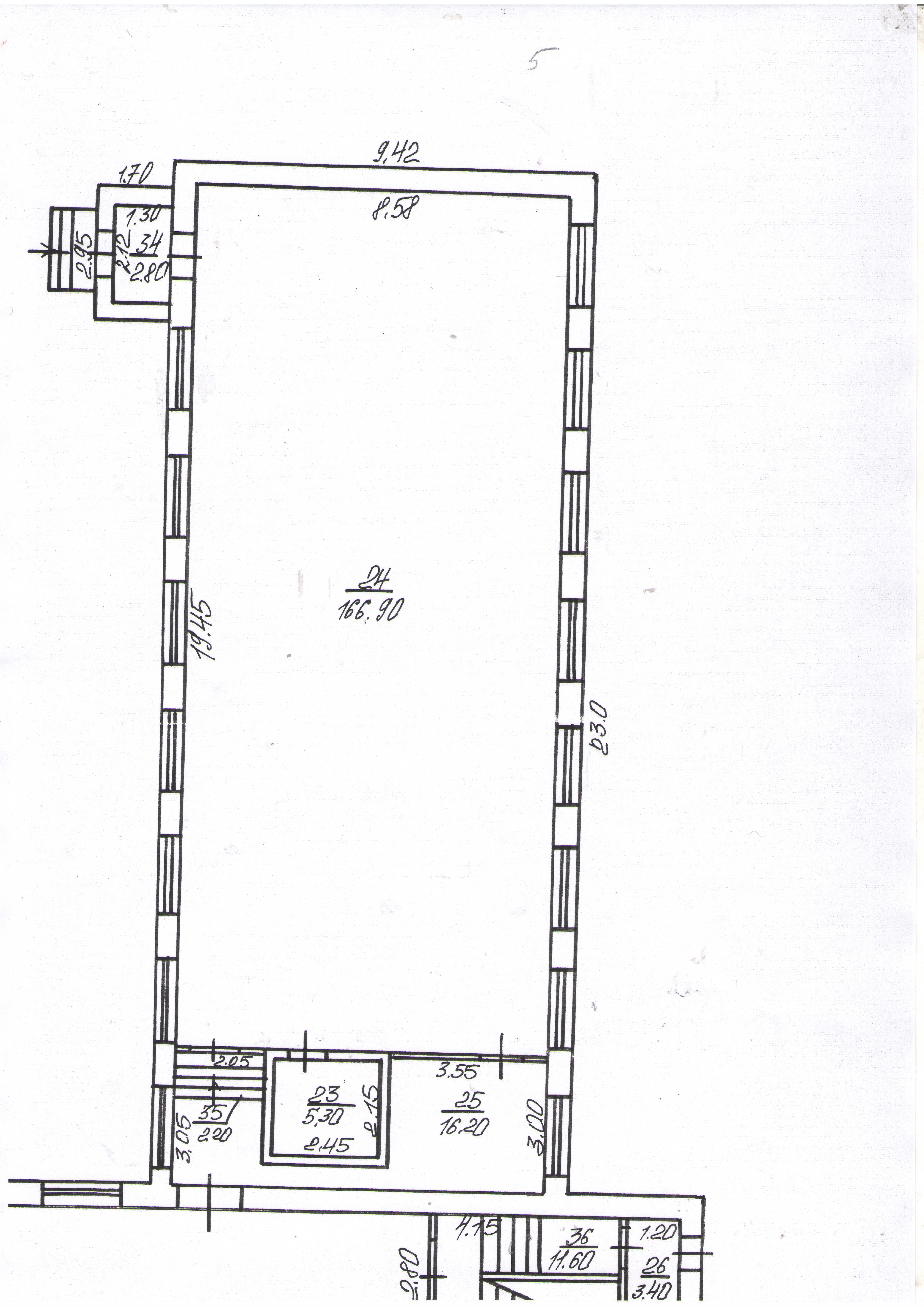 Нежитлове приміщення (спортзал), розташоване за адресою: 84391, Донецька обл., м. Краматорськ, вул. Волховська, 1, загальною площею 166,9 м.кв., на першому поверсі ЗОШ № 30