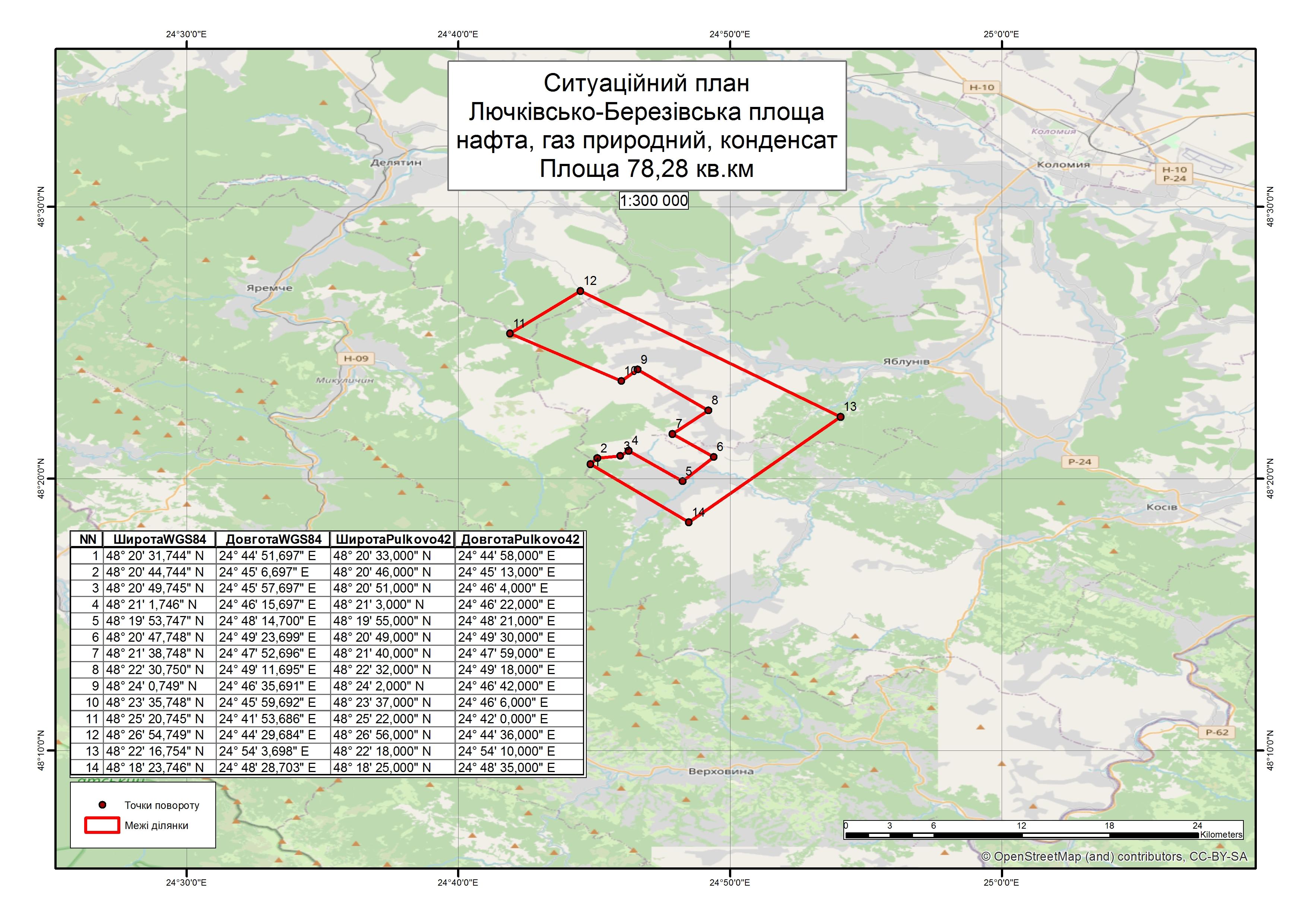 Спеціальний дозвіл на користування надрами –  Лючківсько-Березівська площа. Вартість геологічної інформації – 2 216 578,57 грн (з ПДВ). Вартість пакету аукціонної документації – 72 550 грн (з ПДВ).