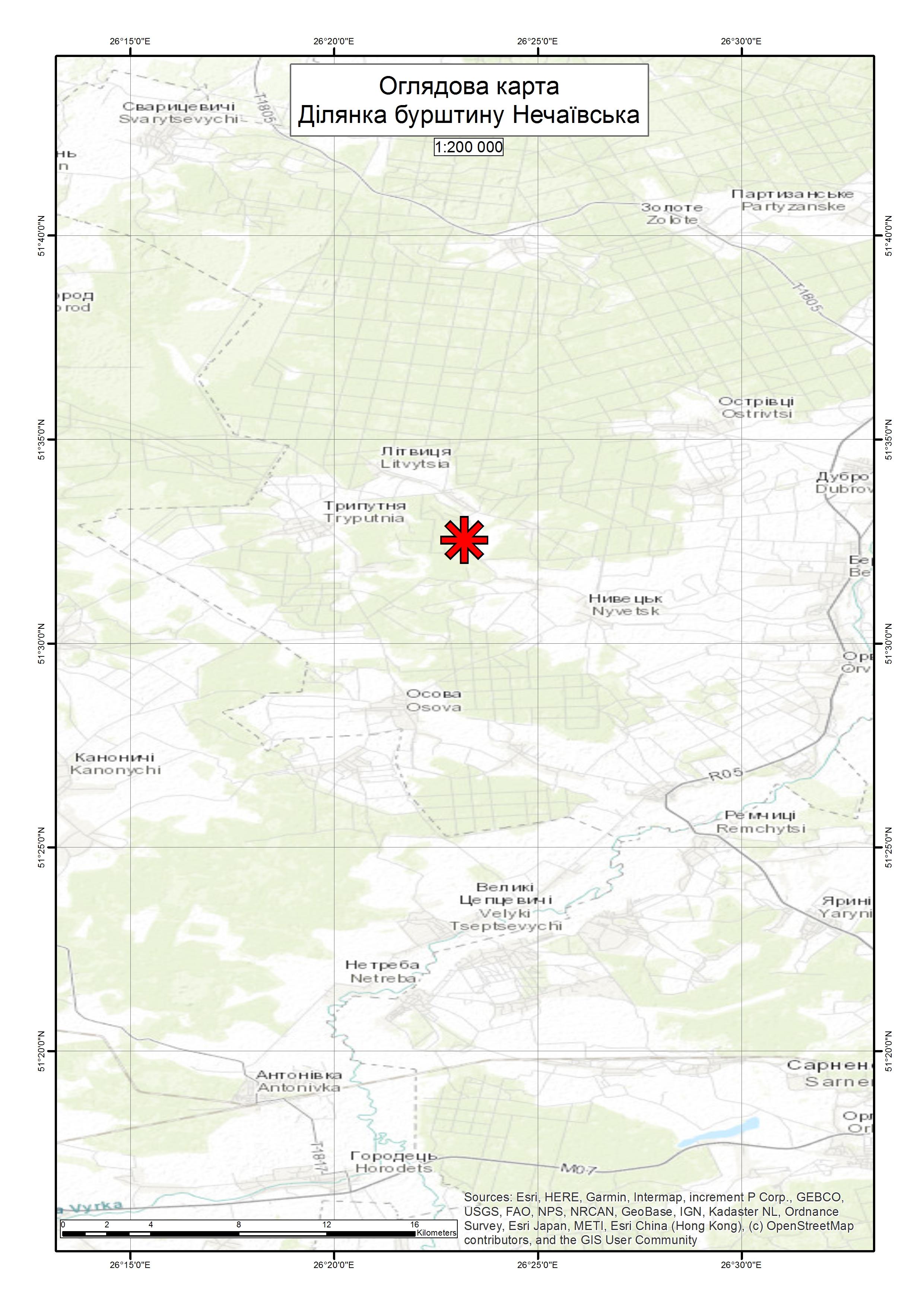 Спеціальний дозвіл на користування надрами – Ділянка Нечаївська. Вартість геологічної інформації – 95 812,35 грн (з ПДВ). Вартість пакету аукціонної документації – 5 219,14 грн (з ПДВ).