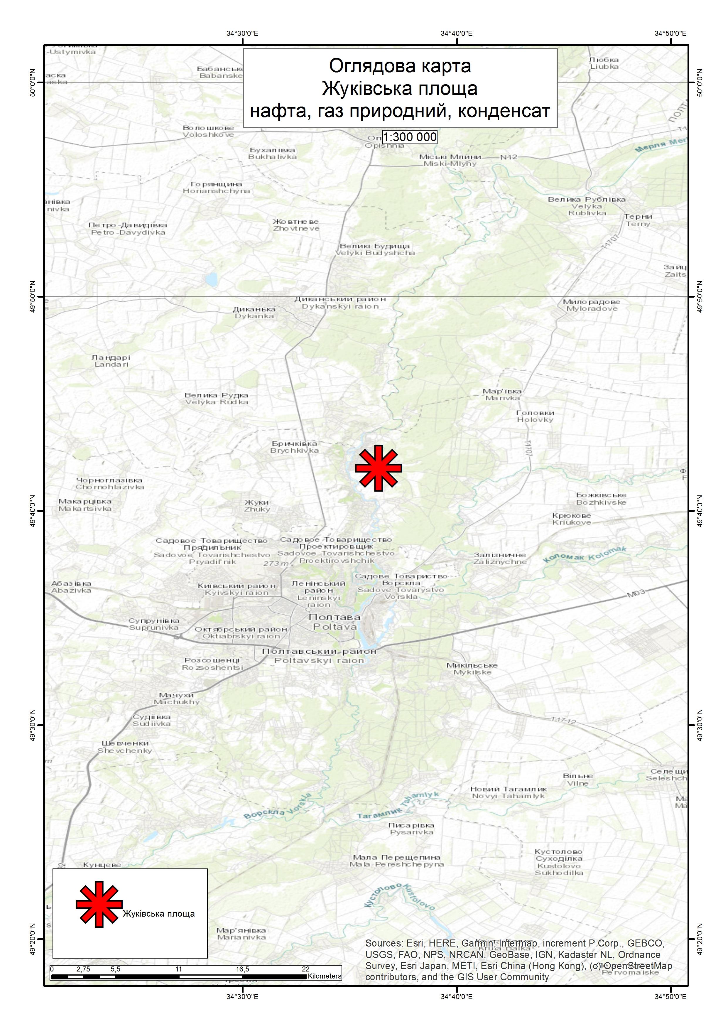 Спеціальний дозвіл на користування надрами – Жуківська площа. Вартість геологічної інформації – 2 172 513,84 грн (з ПДВ). Вартість пакету аукціонної документації – 72 550 грн (з ПДВ).